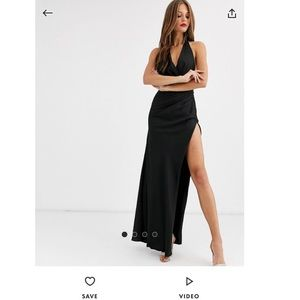 ASOS EDITION halter split side dress size 6